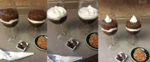 Assembling Chocolate Mounds Tapioca Pudding