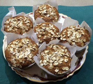 Oatmeal Carrot Muffins Plated
