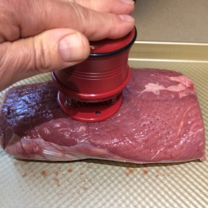 Tenderizing Beef Chuck Eye with Demi Blade Meat Tenderizer