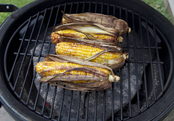 Roasted Corn on Grill