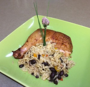 Smoked Chicken with Beans and Rice
