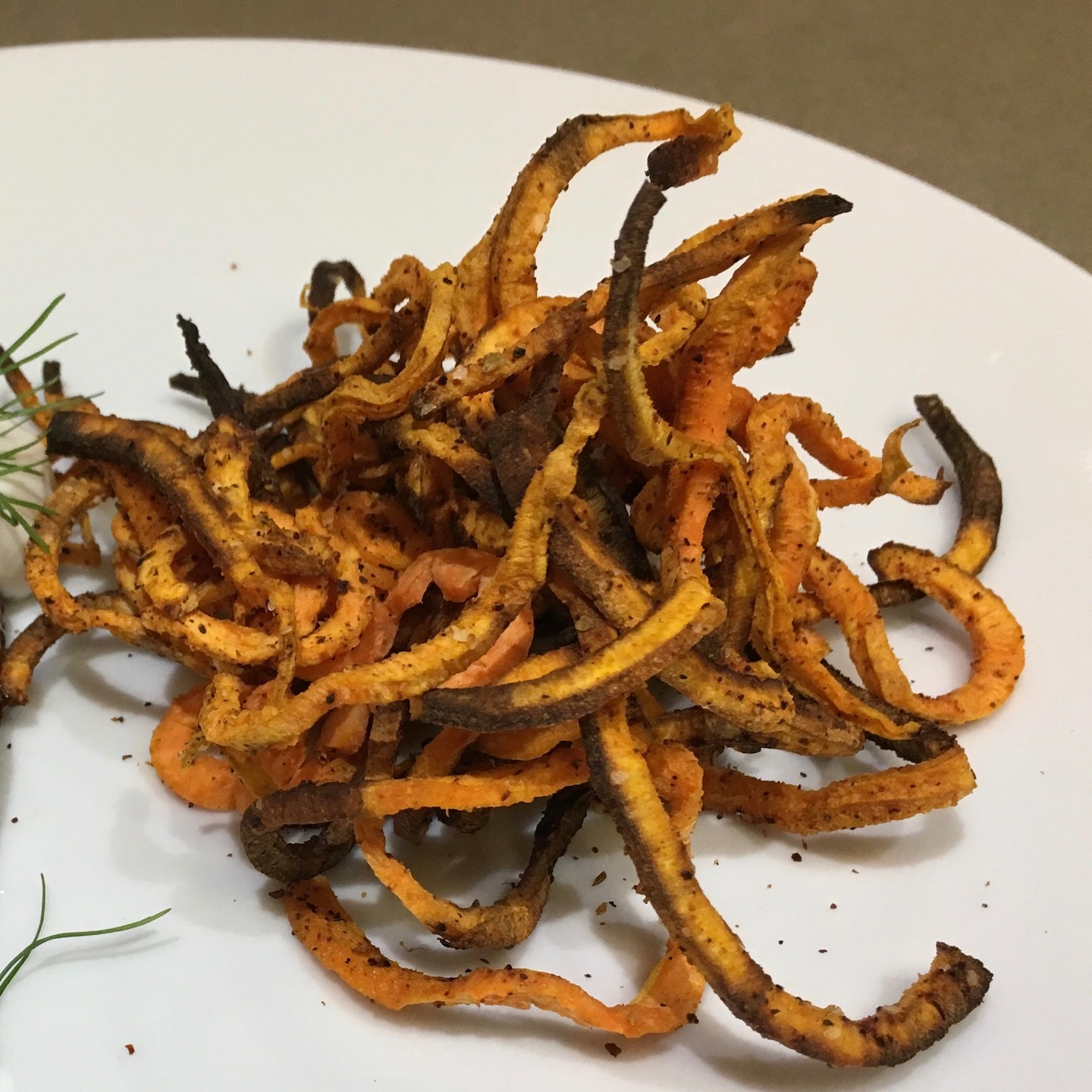 Sweet Potato Curly Fries Air Fried Creative Foods By