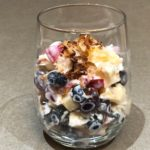 Fresh Fruit Yogurt Salad in a glass
