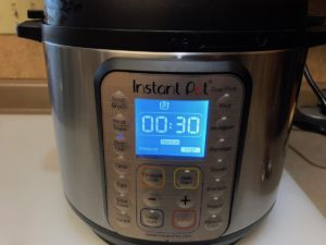 Instant Pot Setting for cooking beans for 30 minutes