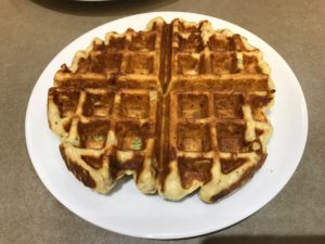 Cooked Stuffing Waffle on plate