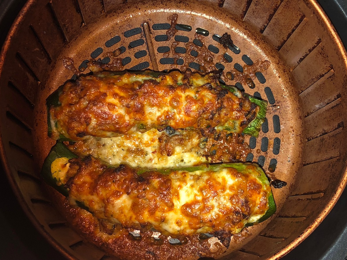 Air Fryer Taco Zucchini Boats