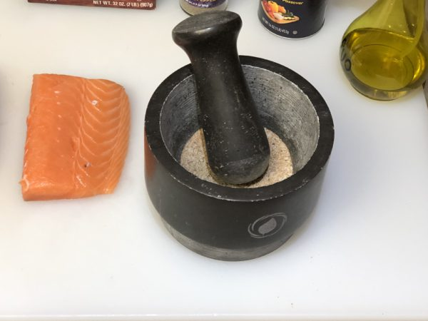 Grinding Spicy Salmon Rub