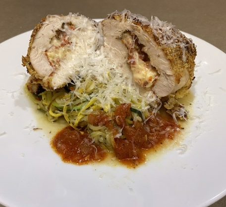 Pizza Stuffed Chicken Breast